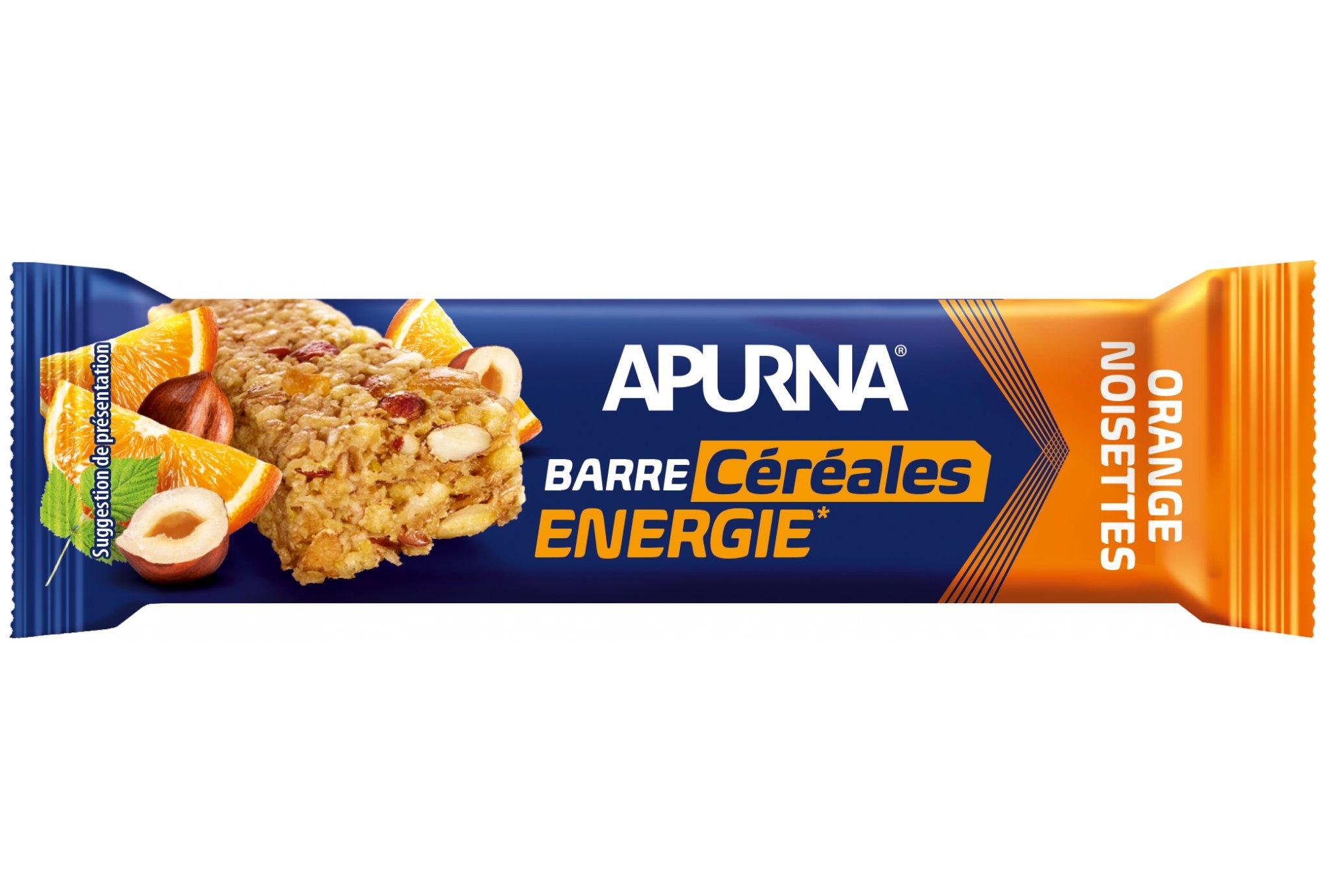 Apurna Barre énergétique - orange/noisettes diététique barres