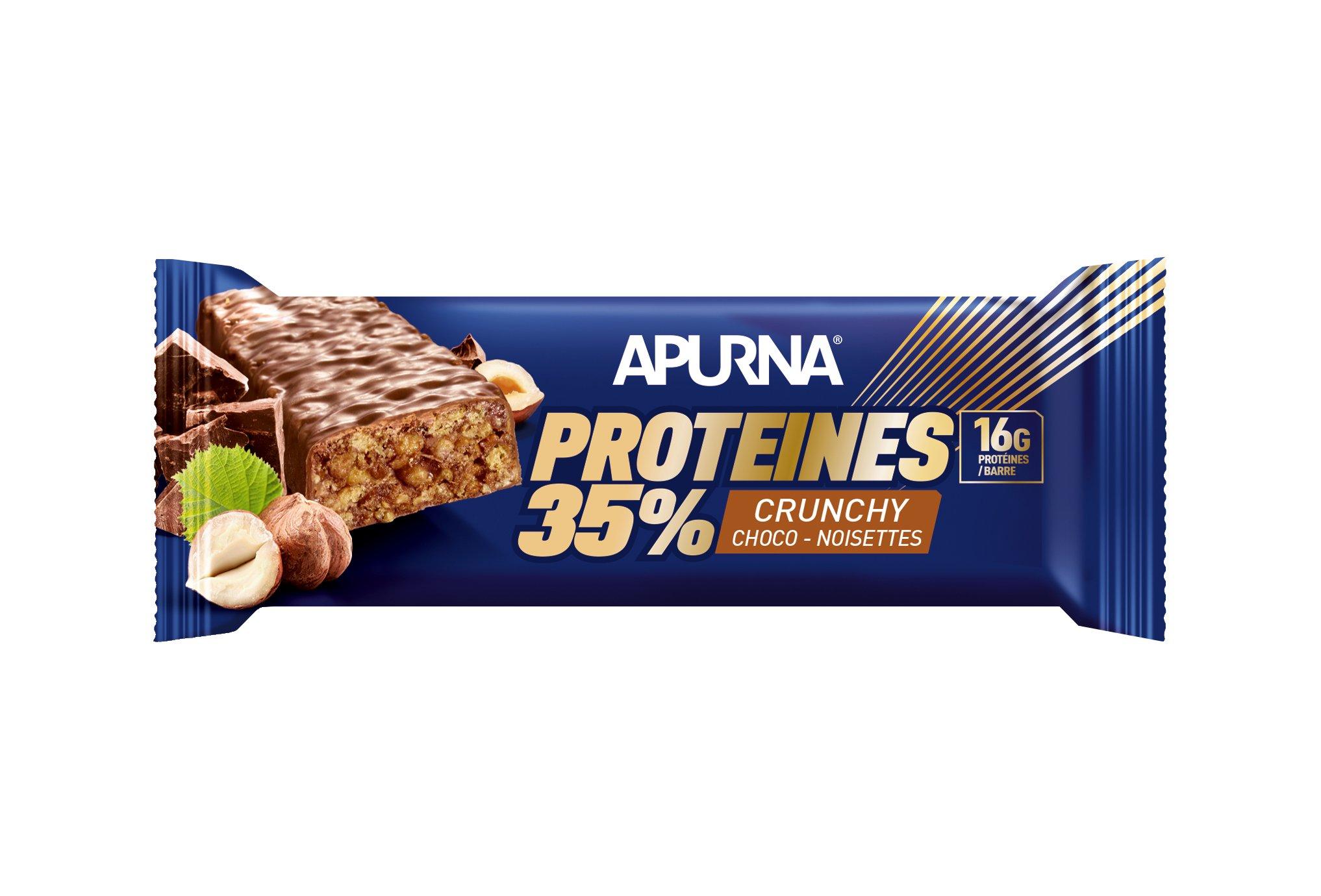 Apurna Barre protéinée - crunchy chocolat noisettes diététique protéines / récupération