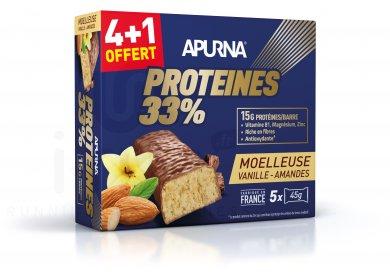 Apurna Barre protéinée Vanille Amandes 4+1 offert