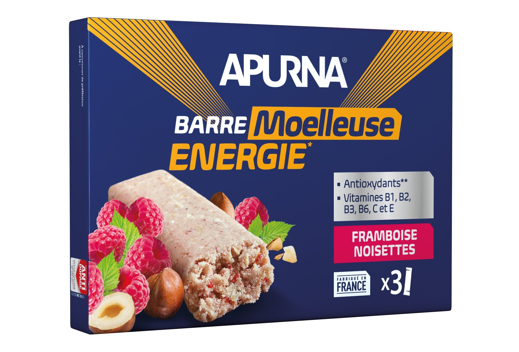 Apurna Barres énergétiques - framboise/noisettes diététique barres