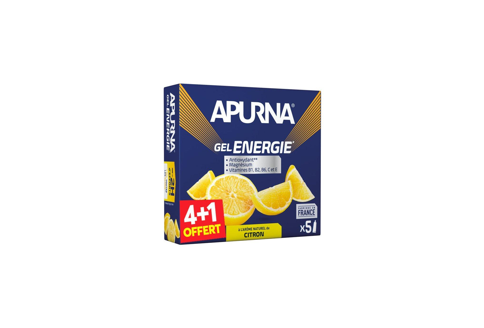 Apurna Pack de geles energéticos-Limón 4+1 Diététique Gels