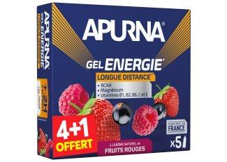 Apurna Pack de geles +2h frutos rojos 4+1