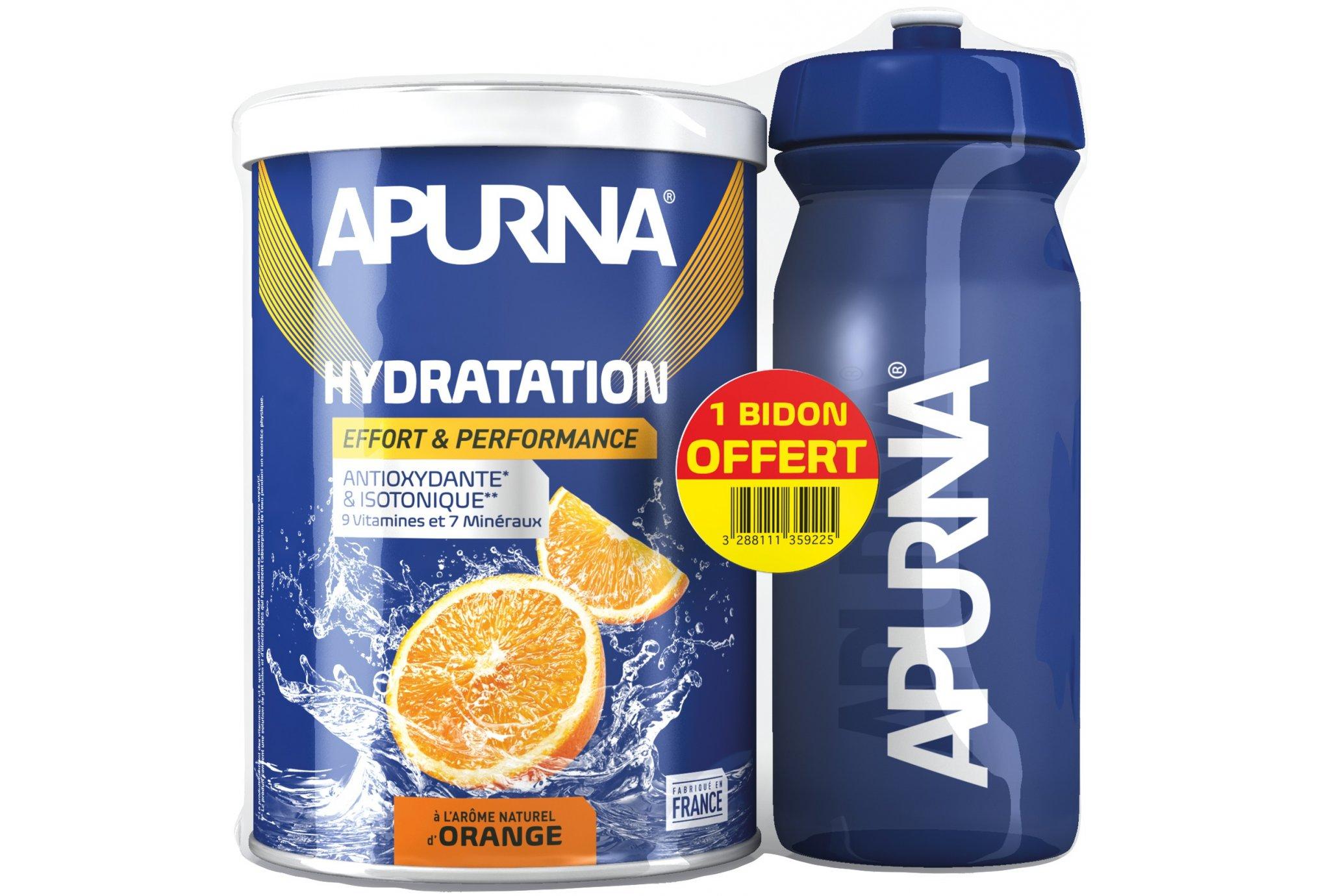 Apurna Préparation Hydratation - Orange + Bidon Offert Diététique Boissons