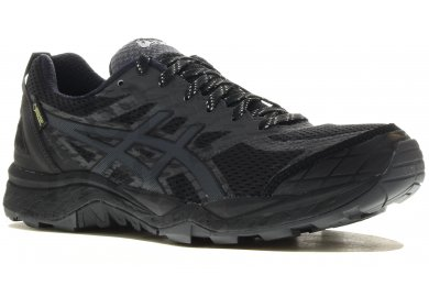 Chaussures Asics Gel Fuji Trabuco noires femme FIRMy1aey