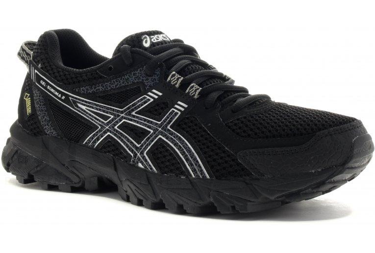 Zapatillas Asics Gel Sonoma 2 Mujer Trail Running Negras