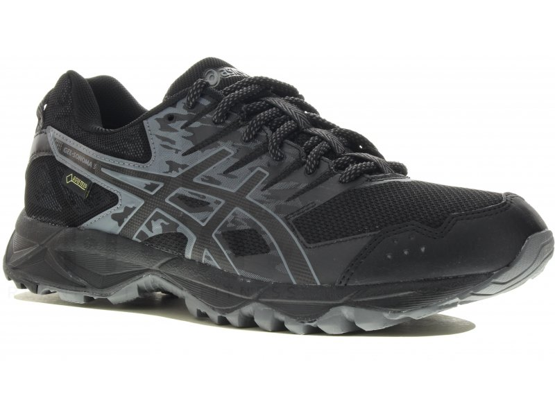 Chaussures Asics Gel Sonoma noires homme