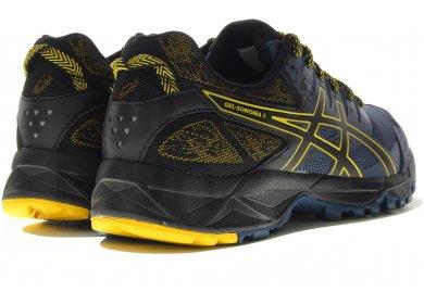 chaussures asics sonoma 3 bleu jaune