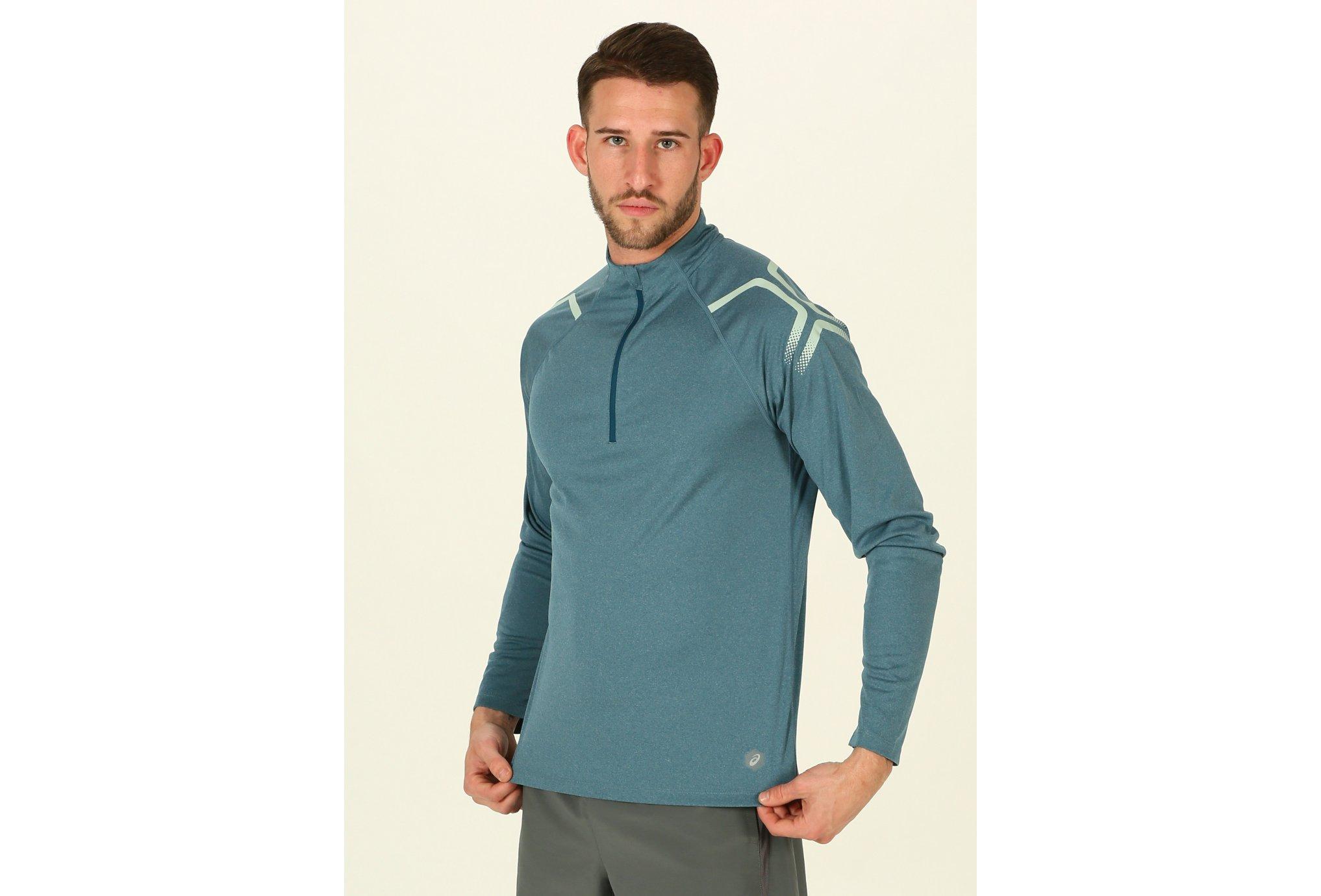 Asics Icon LS 1/2 zip M Diététique Vêtements homme
