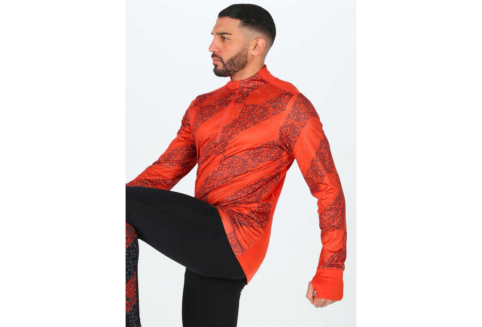 Asics Lite-Show Ls 1/2 Zip M vêtement running homme