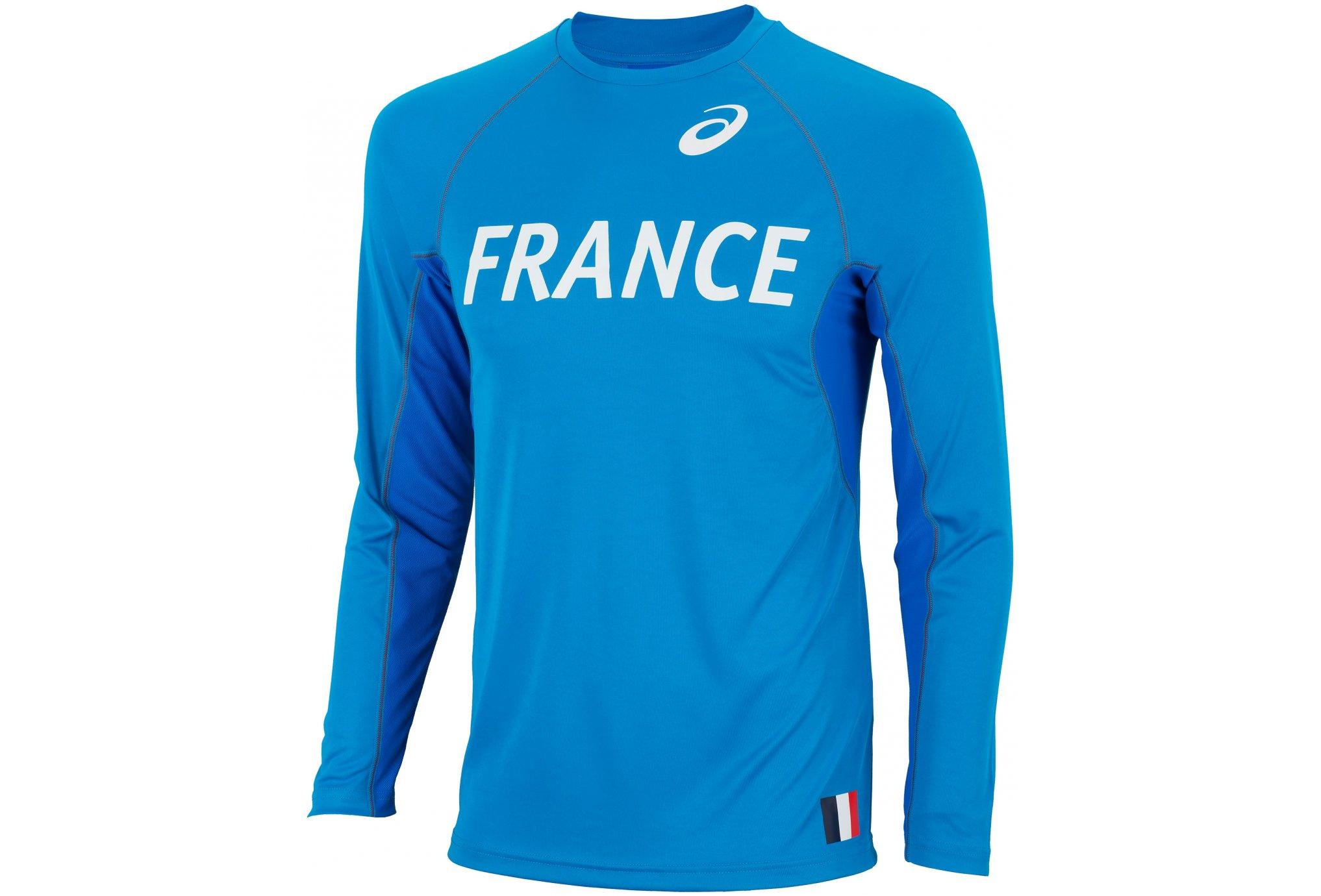 Asics Maillot Equipe de France M vêtement running homme