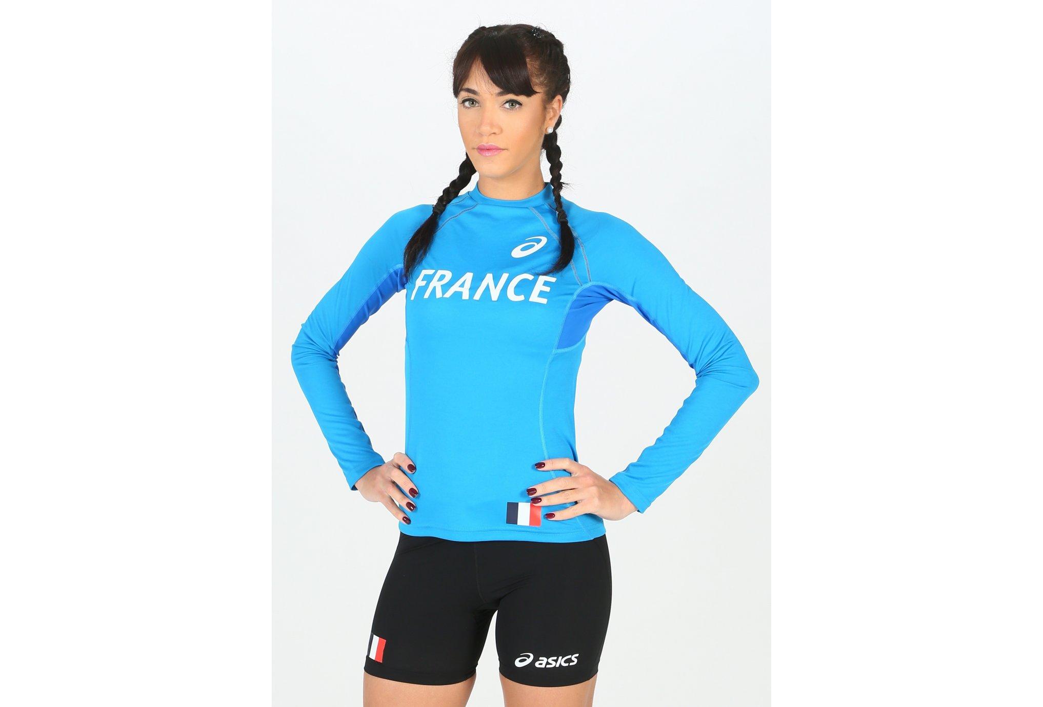 Asics Maillot Equipe de France W vêtement running femme
