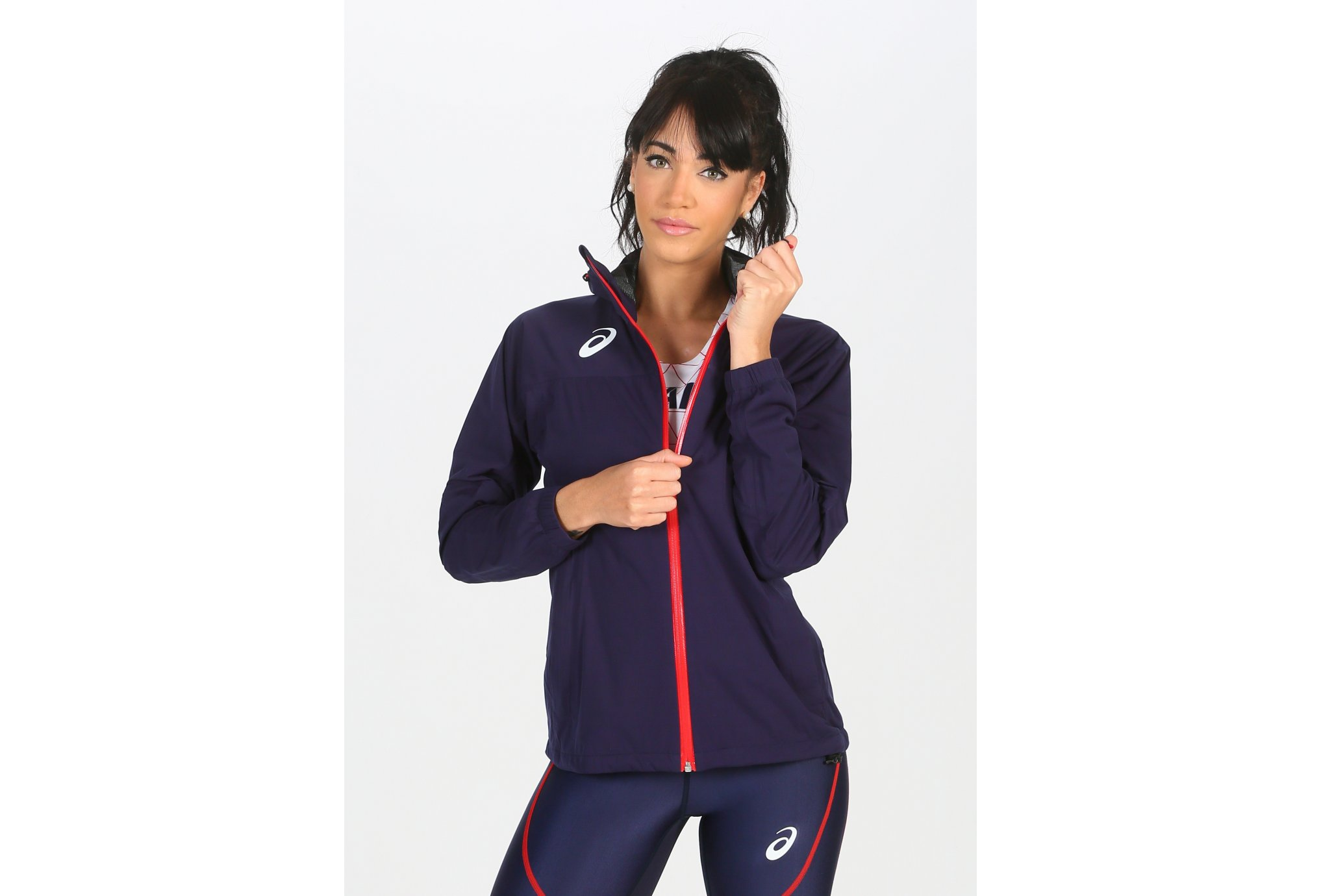 Asics Rain Jacket France W vêtement running femme
