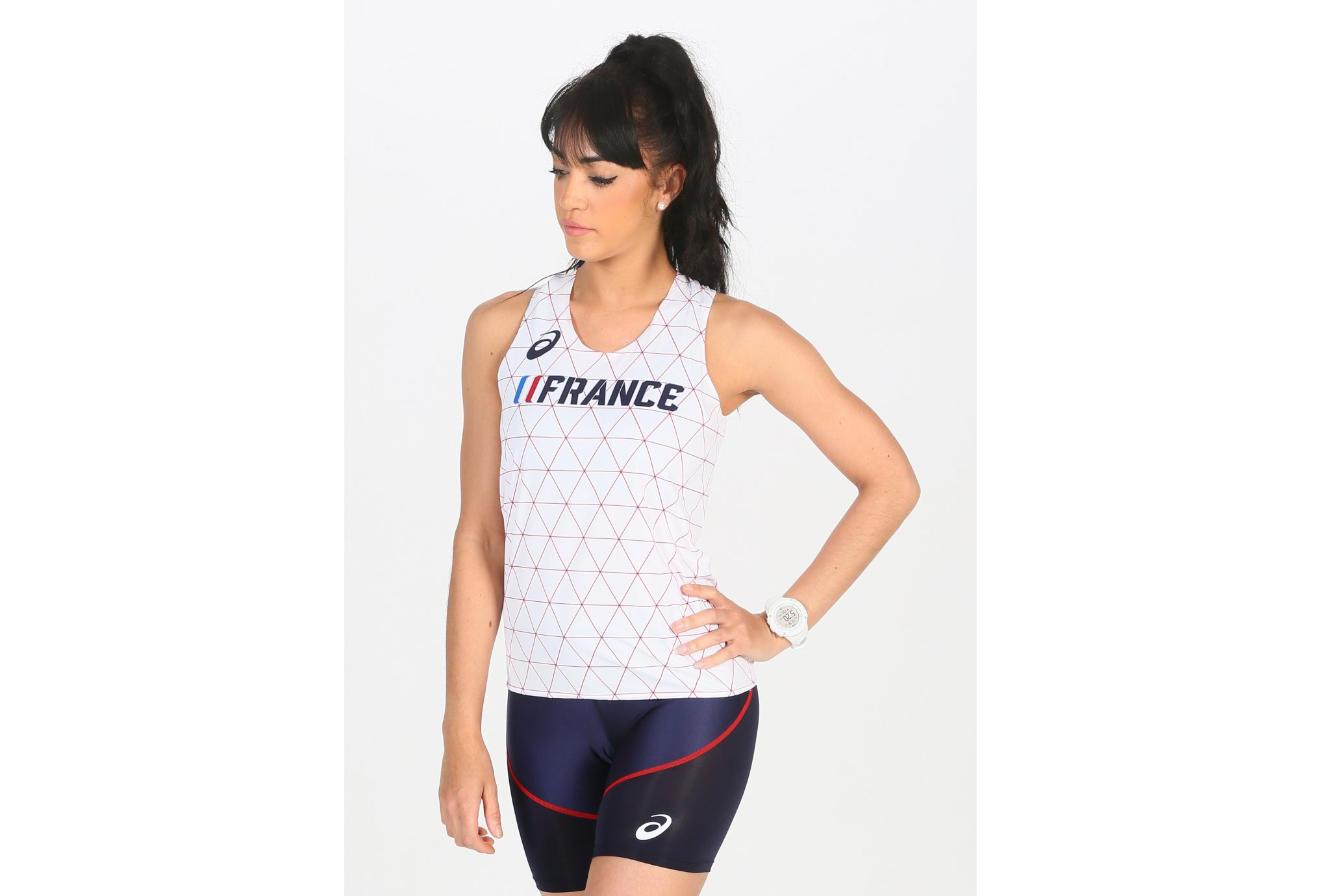 Asics Singlet France W vêtement running femme