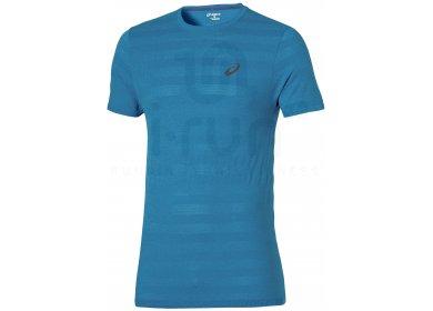 46b4a11f0ff Asics Tee-shirt FuzeX Seamless M homme Bleu pas cher