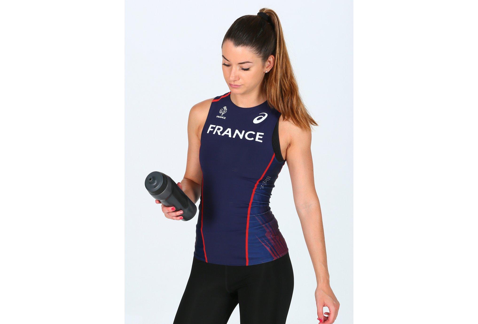 Asics Tee-shirt Rio Équipe de France W vêtement running femme