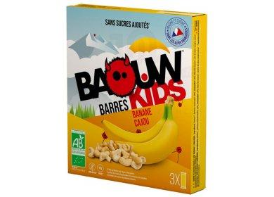 Baouw Étui 3 barres nutritionnelles bio - Banane - Cajou - KIDS