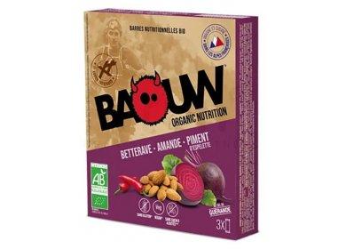 Baouw Étui 3 barres nutritionnelles bio - Betterave - Amande - Piment d'Espelette