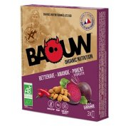Baouw Étui 3 barres nutritionnelles bio - Betterave - Amande - Piment d