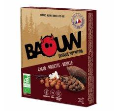 Baouw Étui 3 barres nutritionnelles bio - Cacao - Noisette - Vanille