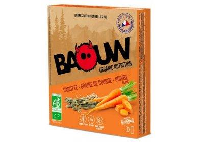 Baouw Étui 3 barres nutritionnelles bio - Carotte - Graine de courge - Poivre blanc