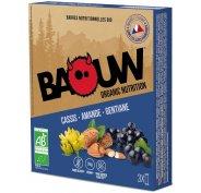 Baouw Étui 3 Barres nutritionnelles bio - Cassis - Amande - Gentiane