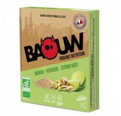 Baouw Étui 3 barres nutritionnelles bio - Quinoa - Pistache - Citron vert