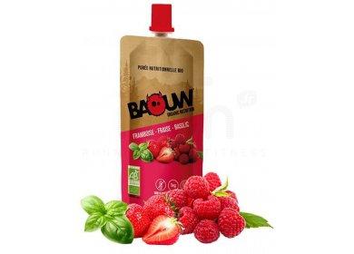 Baouw Purée nutritionnelle bio - Framboise - Fraise - Basilic