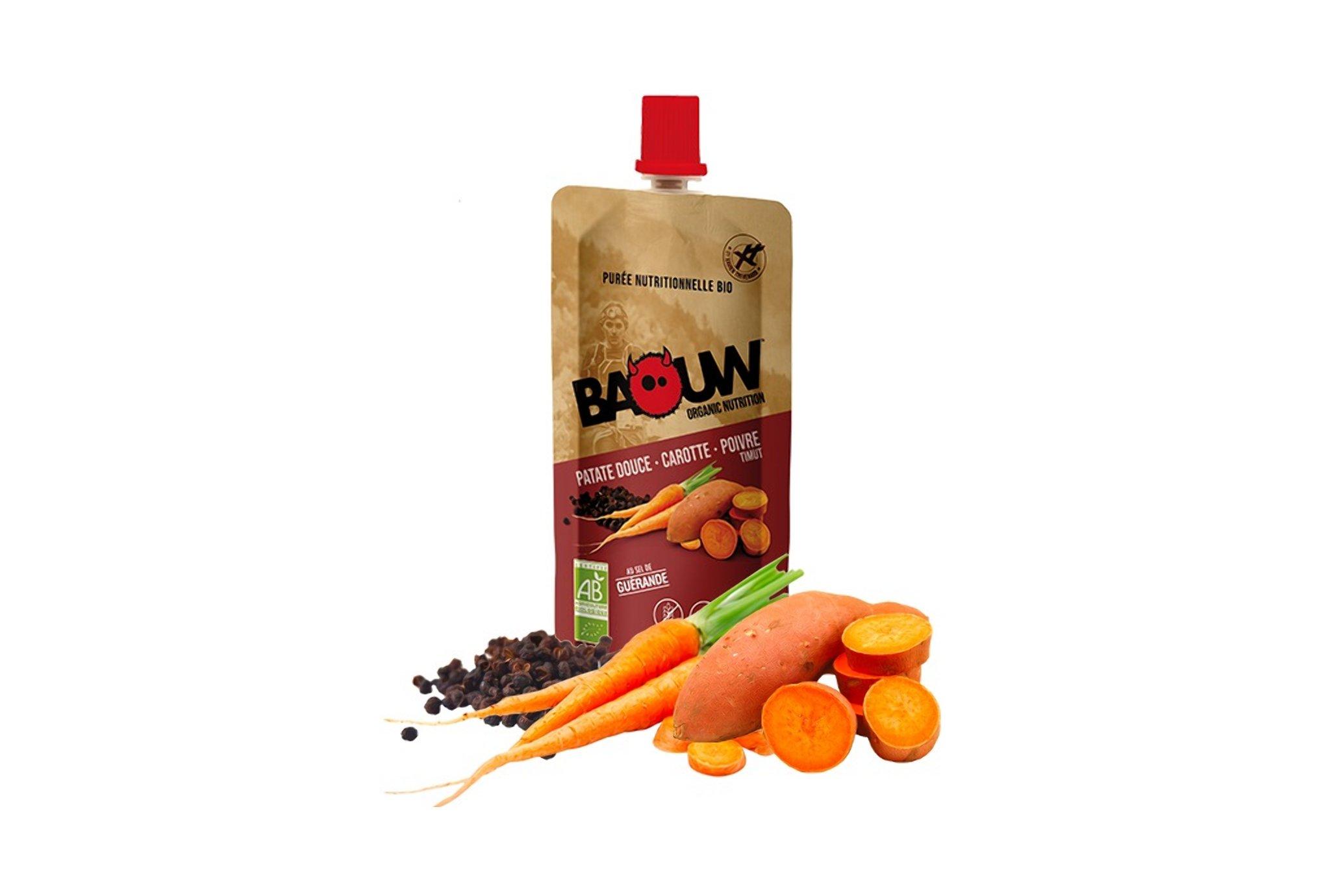 Baouw Purée nutritionnelle bio - Patate douce - Carotte - Poivre Timut Diététique Gels