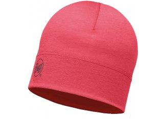Buff Gorro Merino Wool Solid Pink Hibiscus
