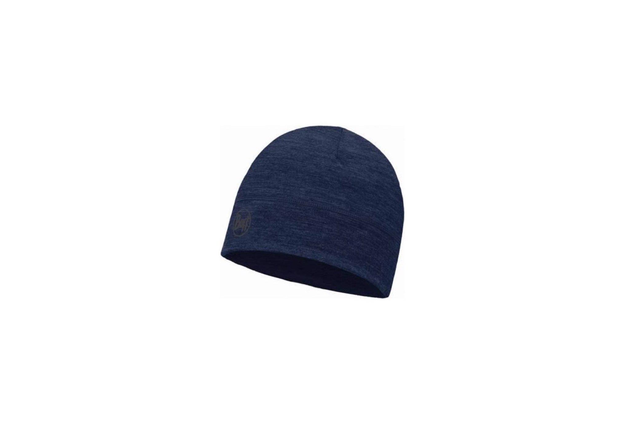 Buff Merino Wool Solid Black Bonnets / Gants