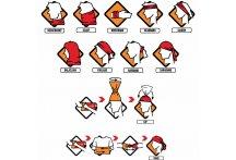 Buff Braga de cuello Original Multi Logo Orange Fluor