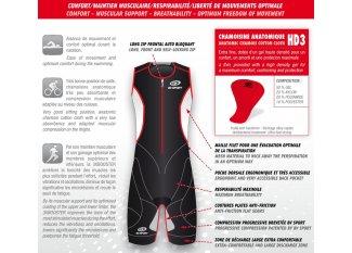 BV Sport Mono de compresión para triatlón 3xBooster
