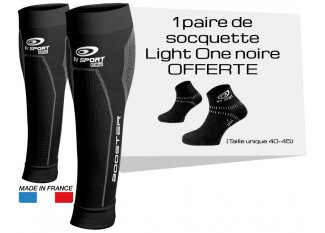 BV Sport Pack manguitos de gemelo Booster Elite y calcetines Light One