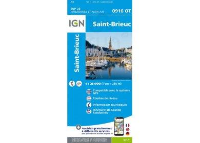 Carte IGN 0916OT Saint-Brieuc
