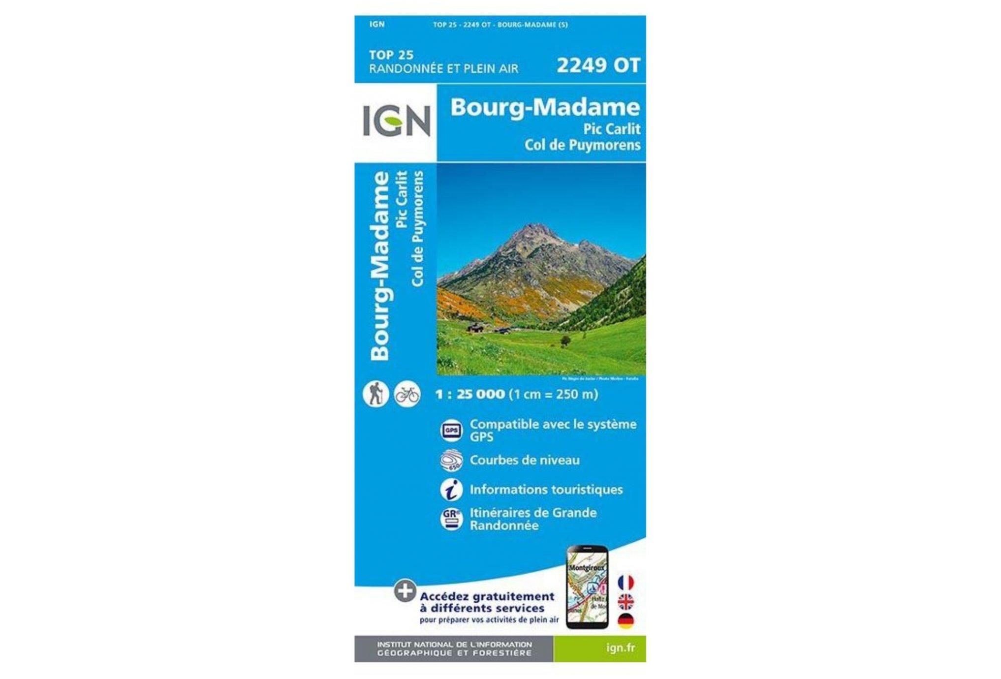 Carte IGN Bourg-Madame 2249OT Cartes