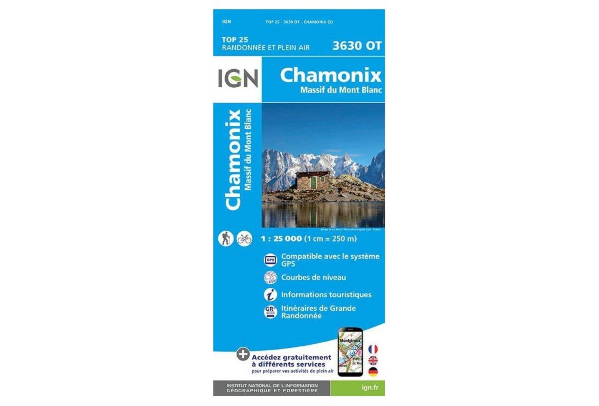 Carte IGN Chamonix-Mont-Blanc 3630OT Cartes