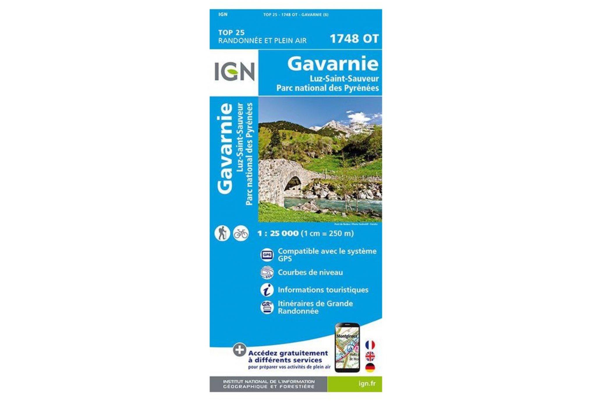 Carte IGN Gavarnie 1748OT Cartes