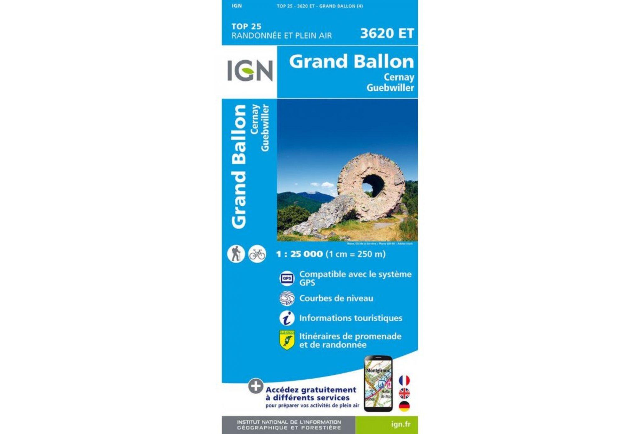Carte IGN Grand Ballon 3620ET Cartes