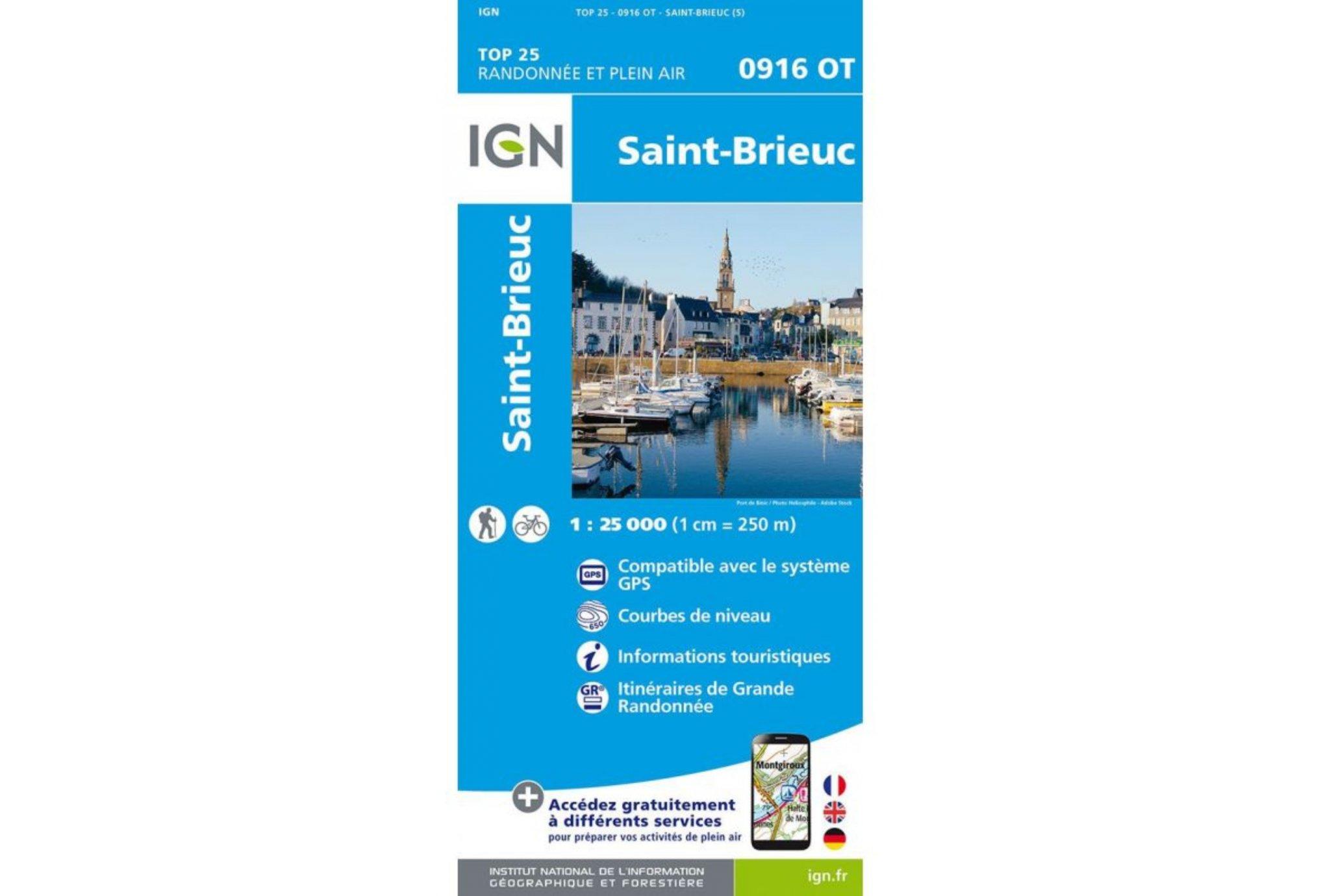 Carte IGN Saint-Brieuc 0916OT Cartes