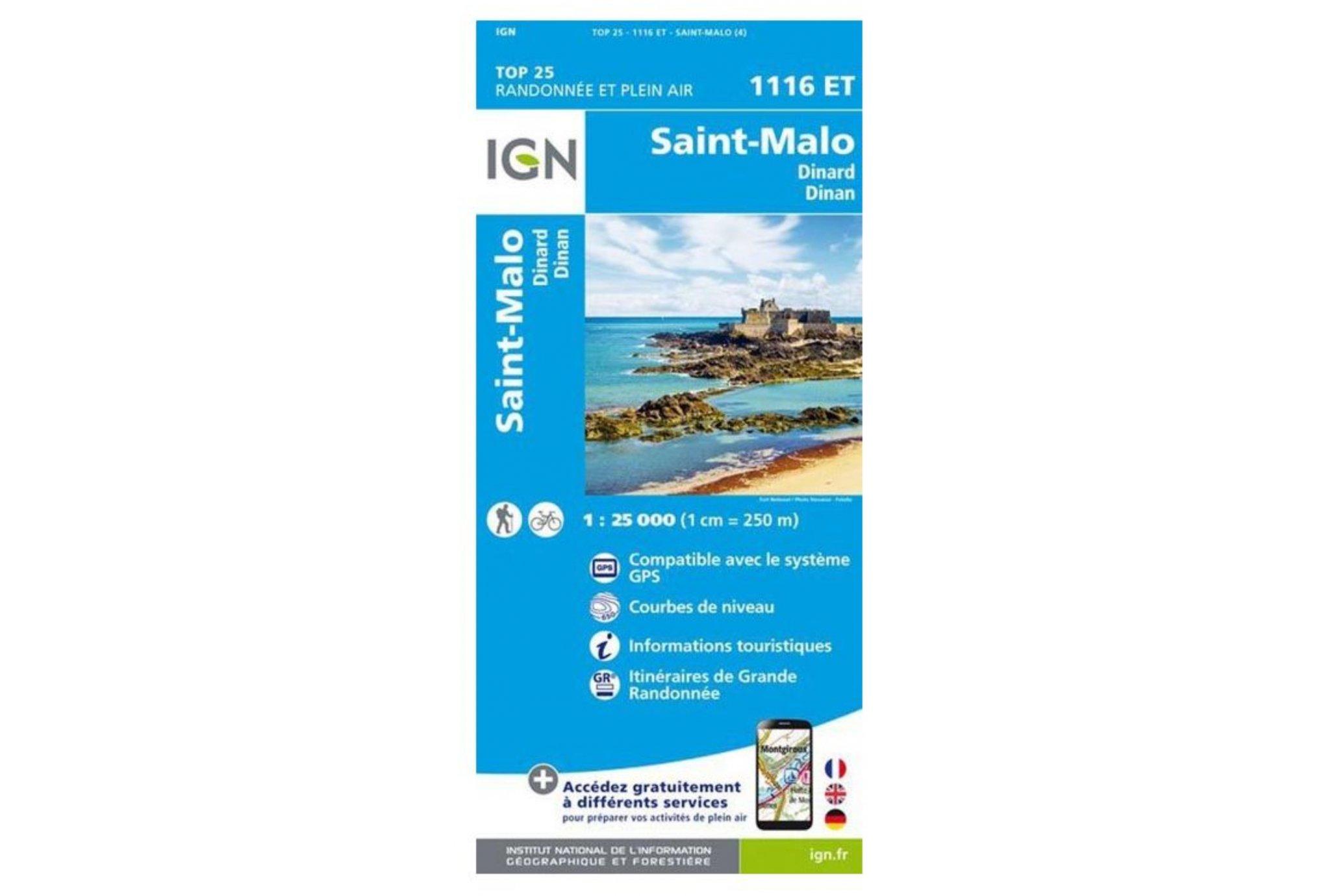 Carte IGN Saint-Malo 1116ET Cartes