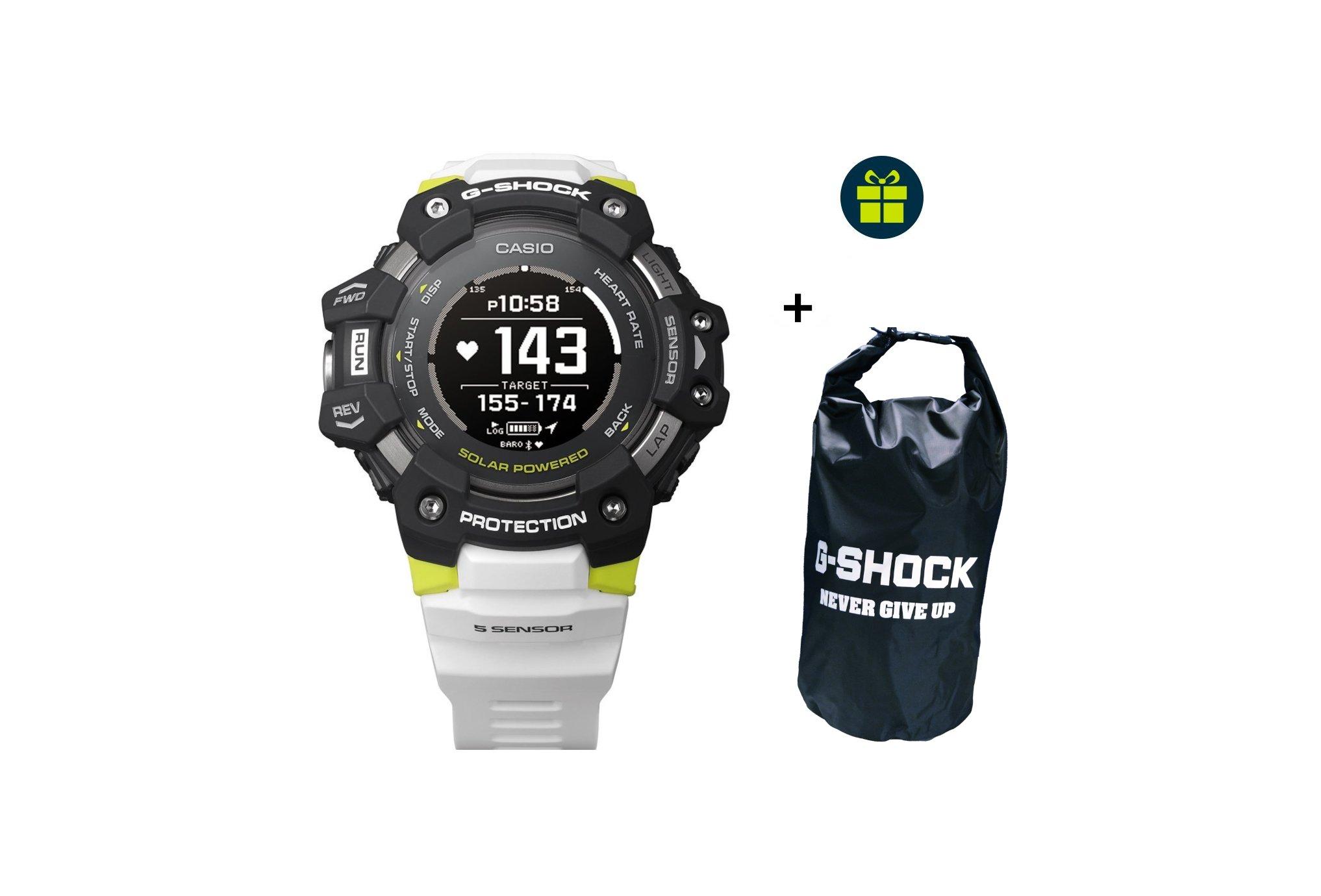 Casio G-SQUAD HR GBD-H1000-1A7ER et sac étanche G-Shock offert Cardio-Gps