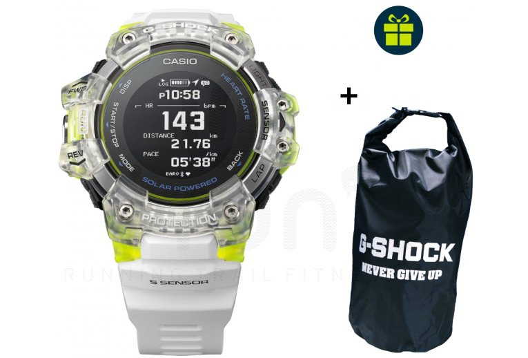 Casio G-SQUAD HR GBD-H1000-7A9ER et sac étanche G-Shock offert