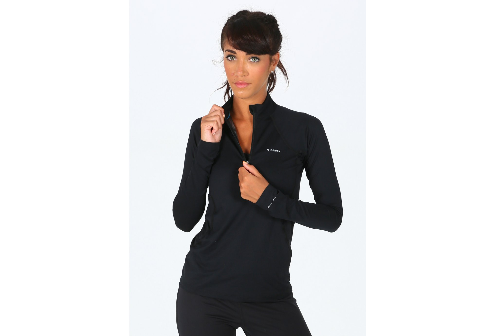 Columbia Midweight Stretch 1/2 zip W vêtement running femme