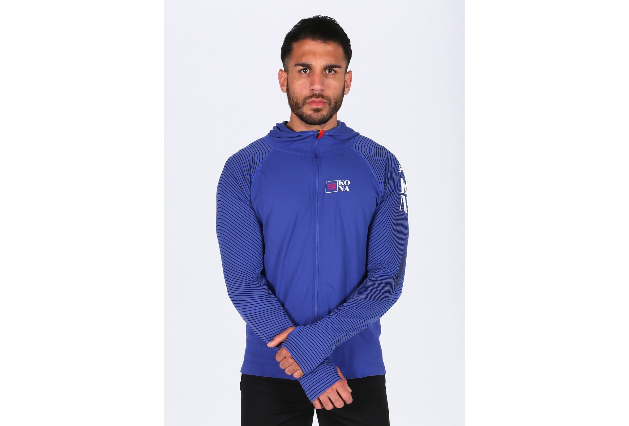 Compressport 3D Thermo Seamless Hoodie Kona M vêtement running homme