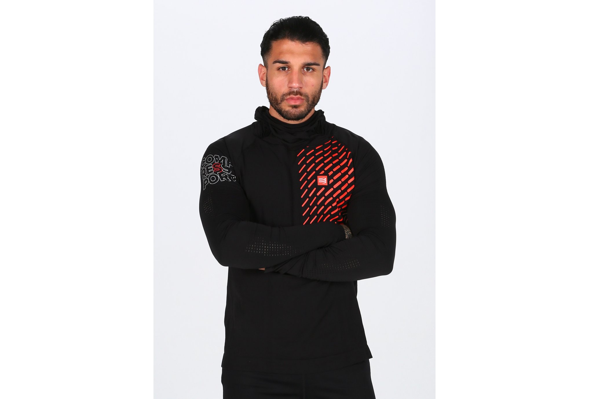 Compressport 3D Thermo Seamless Hoodie M vêtement running homme