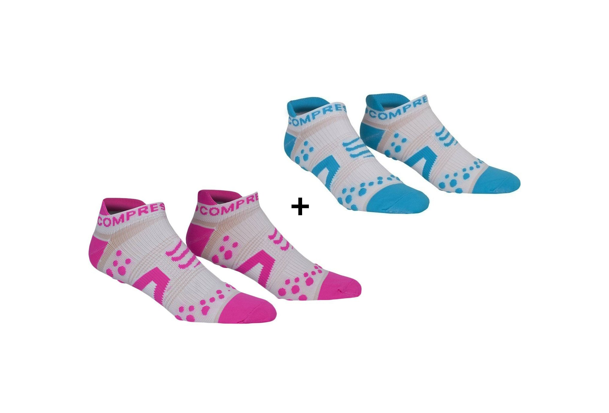 Compressport Pack Chaussettes Pro Racing V2 Run Low Chaussettes
