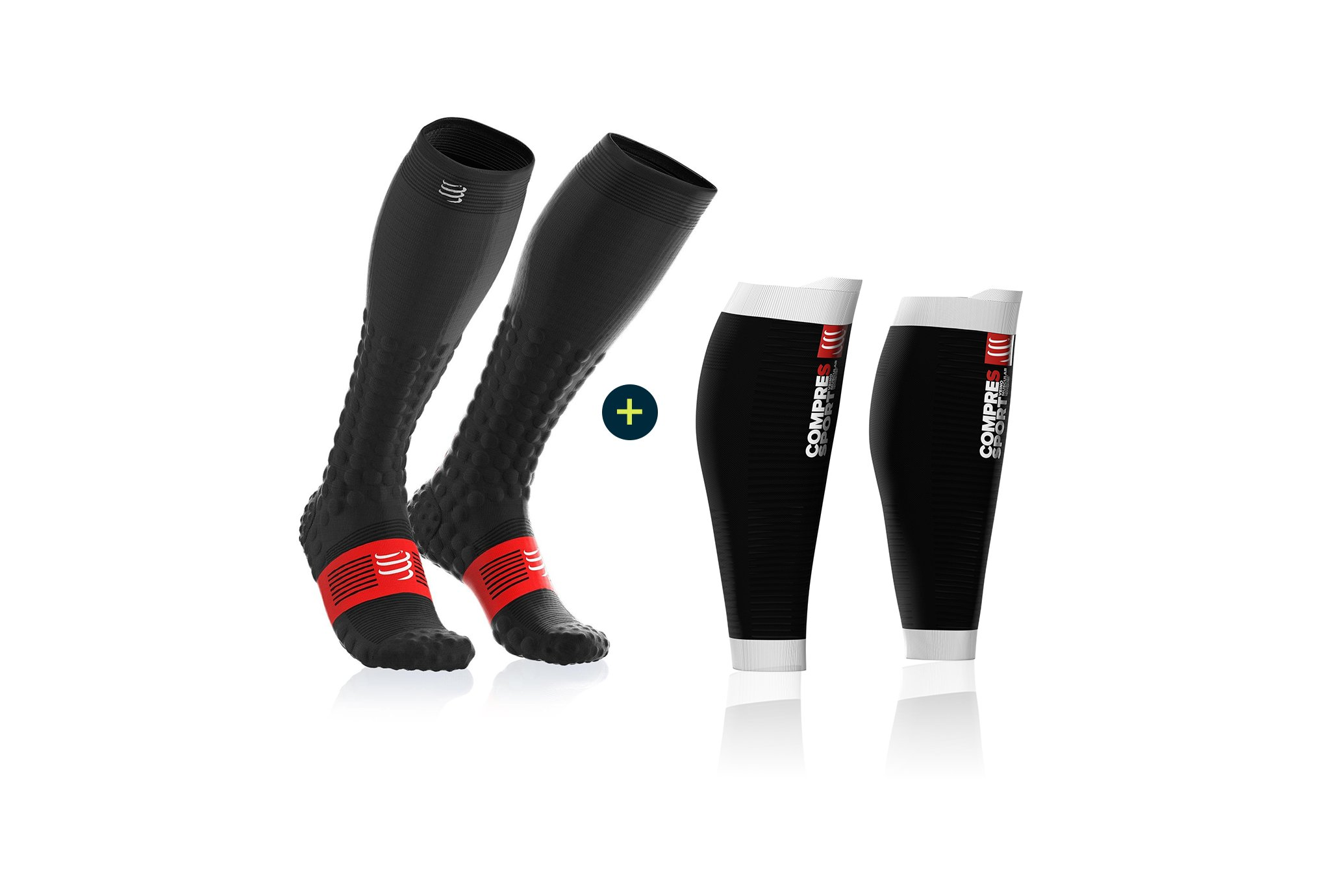 Compressport Pack Full Socks Detox Recovery + R2 Oxygen Manchons