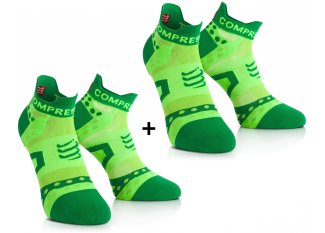 Compressport Pack de calcetines Pro Racing Ultra Light Run Low