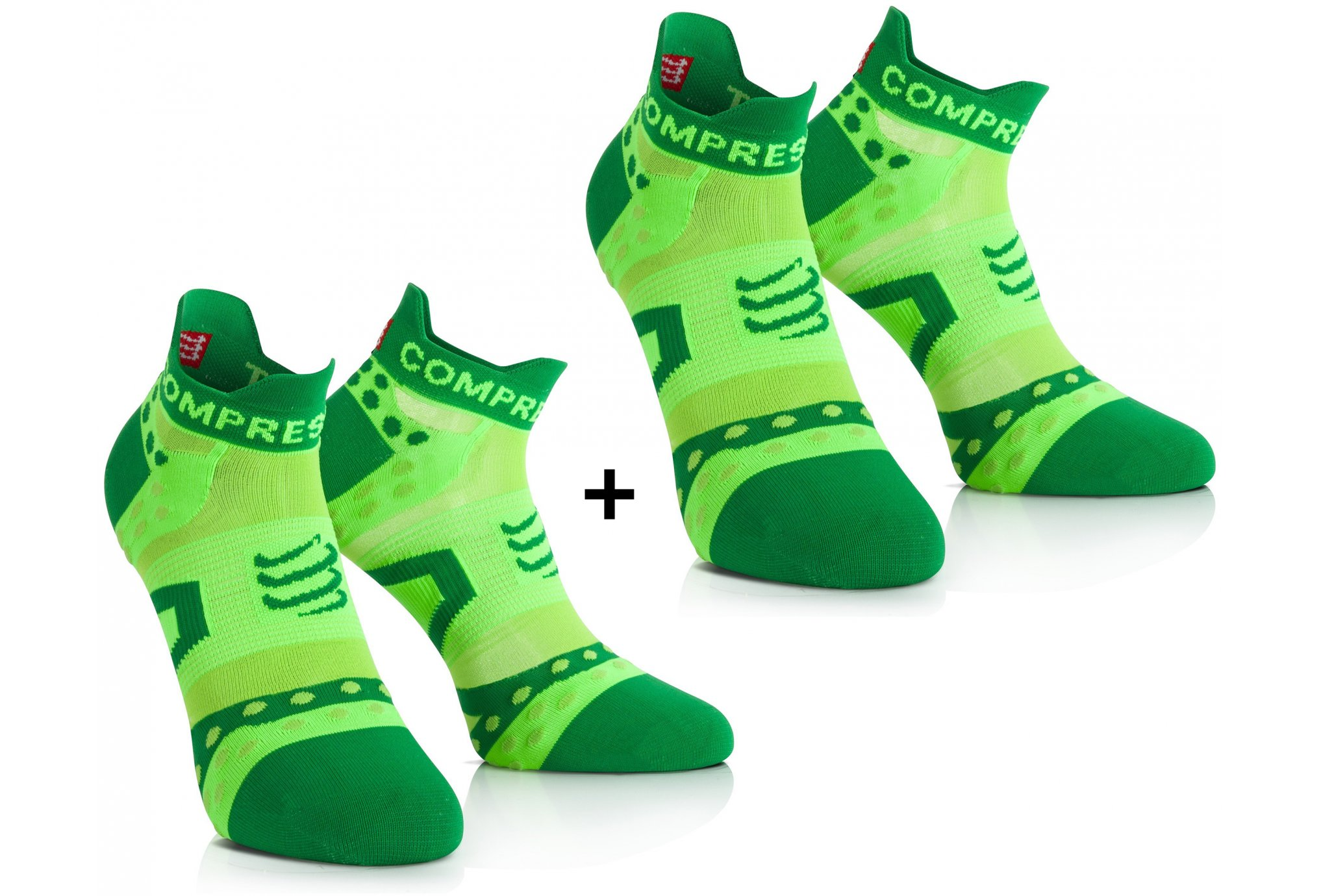 Compressport Pack Pro Racing Ultra Light Run Low Chaussettes