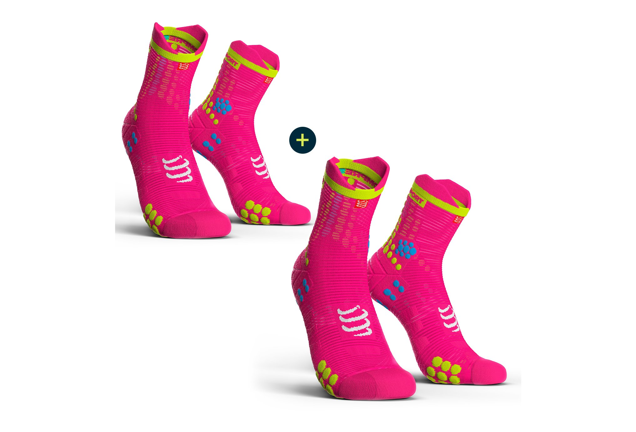 Compressport Pack Pro Racing V 3.0 Run High Chaussettes